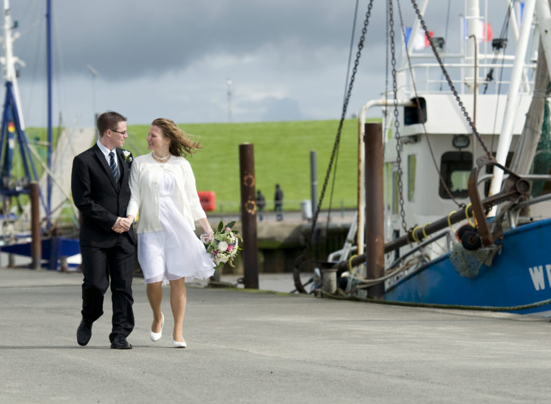 Hochzeitsfoto mit Kutter
