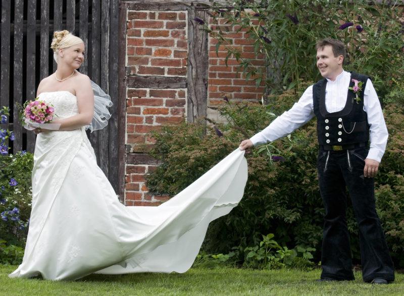 Hochzeitsfoto, Zimmermannntracht