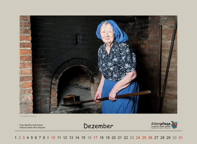 Fotokalender der Altenpflege im Landkreis Stade, Dezember