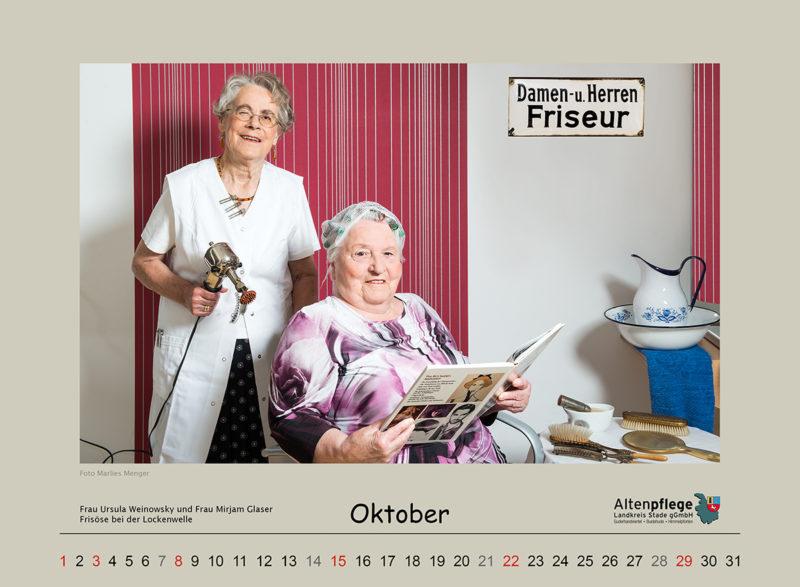 Fotokalender der Altenpflege im Landkreis Stade, Oktober