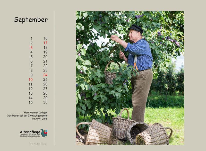 Fotokalender der Altenpflege im Landkreis Stade, September