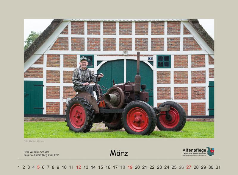 Fotokalender der Altenpflege im Landkreis Stade, März