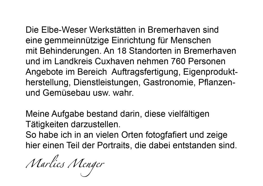 Elbe-Weser-Werkstätten, Infotext