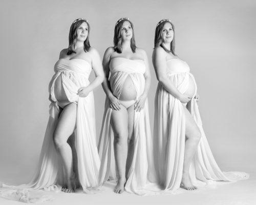 Collage Schwangerschaftskeleid
